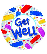 """17"""" Get Well Colorful Bandaids Balloon"""