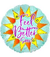 """18"""" Feel Better Sparkle Foil Balloon"""