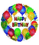 """18"""" Happy Birthday Many, Many Balloons"""
