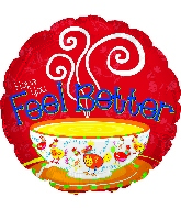 "17"" Feel Better Chicken Soup Foil Balloon"