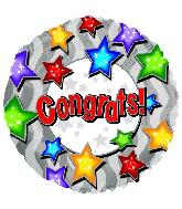 "18"" Congrats Stars On Stars"