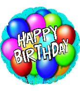 "18 "" Happy Birthday Balloons"