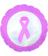 """18"""" Breast Cancer Dazzeloon"""