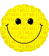"""17"""" Smiley Get Well"""