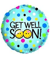 "17"" Get Well Soon Smileys Foil Balloon"