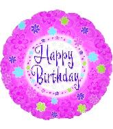 "18"" Pinkish Happy Birthday Mylar Balloon"