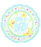 "9"" Airfill It's A Boy Moon & Stars M21"