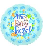 "9"" Airfill Baby Boy Footsies M35"