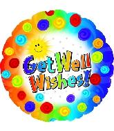 """9"""" Airfill Get Well Dots & Swirls Balloon"""