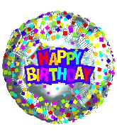 "9"" Airfill Happy Birthday Confetti"