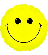 "31"" Solid Yellow Smiley Face Balloon"