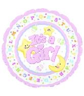 "4"" Airfill It's A Girl Moon & Stars M57"