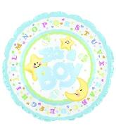 "4"" Airfill It's A Boy Moon & Stars M58"