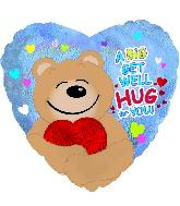 """17"""" Get Well Hug Dazzeloon Balloon"""