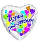 """18"""" Happy Anniversary Multi Colors"""