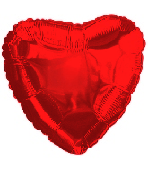 "4.5"" Red Heart Airfill Mylar Balloon"