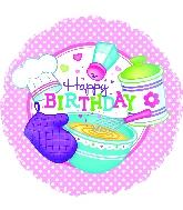 "18"" Happy Birthday Little Chef Balloon"