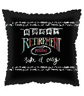 "18"" Retirement Chalk Foil Balloon"