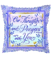 """18"""" Thoughts & Prayers Foil Balloon"""