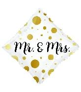 """18"""" Mr. & Mrs. Diamond Foil Balloon"""