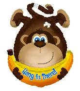 """28""""Hang In There Monkey Shape Balloon"""