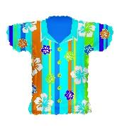 "20"" Blue Hawaiian Shirt Shape Balloon"