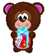 """22"""" Happy Birthday Day Bear Shape Balloon"""