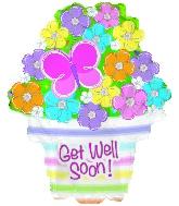 "22"" Get Well Soon Flowers Balloon"