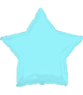 "17"" Opalescent Light Blue Star Balloon"