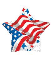 "17"" Patriotic Waving Flag Star Balloon"