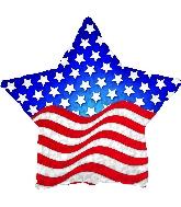 "17"" Patriotic Prism Star Balloon"