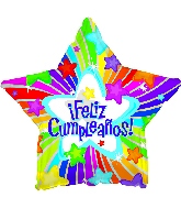 "17"" Feliz Cumpleanos Star Balloon"