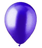"""9"""" Metallic Deep Purple Latex (100 Per Bag)"""