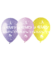 "12"" Baby Shower Assorted Latex Balloons (50 Per Bag)"