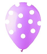 """12"""" Pink with White Polka Dot Latex 50's"""