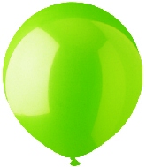 "17"" Standard Lime Green Latex 72 Count"