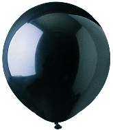 "17"" Crystal Black Latex 72 Count"