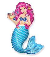 "42"" Jumbo Foil Shaped Balloon Zoe Mermaid"