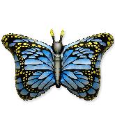 "38"" Jumbo Foil Shaped Balloon Royal Butterfly Blue"