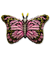 """38"""" Jumbo Foil Shaped Balloon Royal Butterfly Pink"""