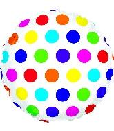 """18"""" Multi-Colored Dots Foil Balloon"""