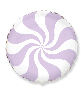"18"" Round Candy Peppermint Swirl Pastel Lilac"