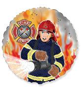 """18"""" Fireman/Firefighter Foil Balloon"""