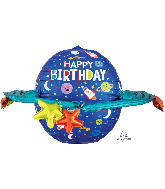"29"" Happy Birthday Colorful Galaxy Foil Balloon"