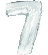 "34"" Jumbo Number #7 - Silver Foil Balloon"