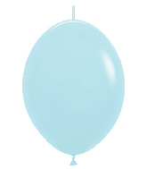 """12"""" Link-O-Loon Latex Balloons Pastel Matte Blue"""