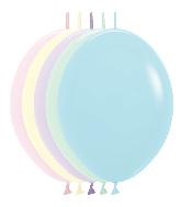 "12"" Link-O-Loon Latex Balloons Pastel Matte Assortment"