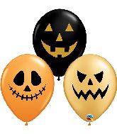 """11"""" Jack Faces Assortment Latex Balloons (50 Per bag)"""