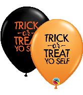 """11"""" Trick-or-Treat Yo Self Latex Balloons (50 Per bag)"""