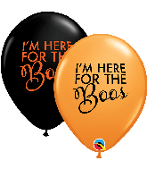 "11"" Simply Here For The Boos Latex Balloons (50 Per bag)"